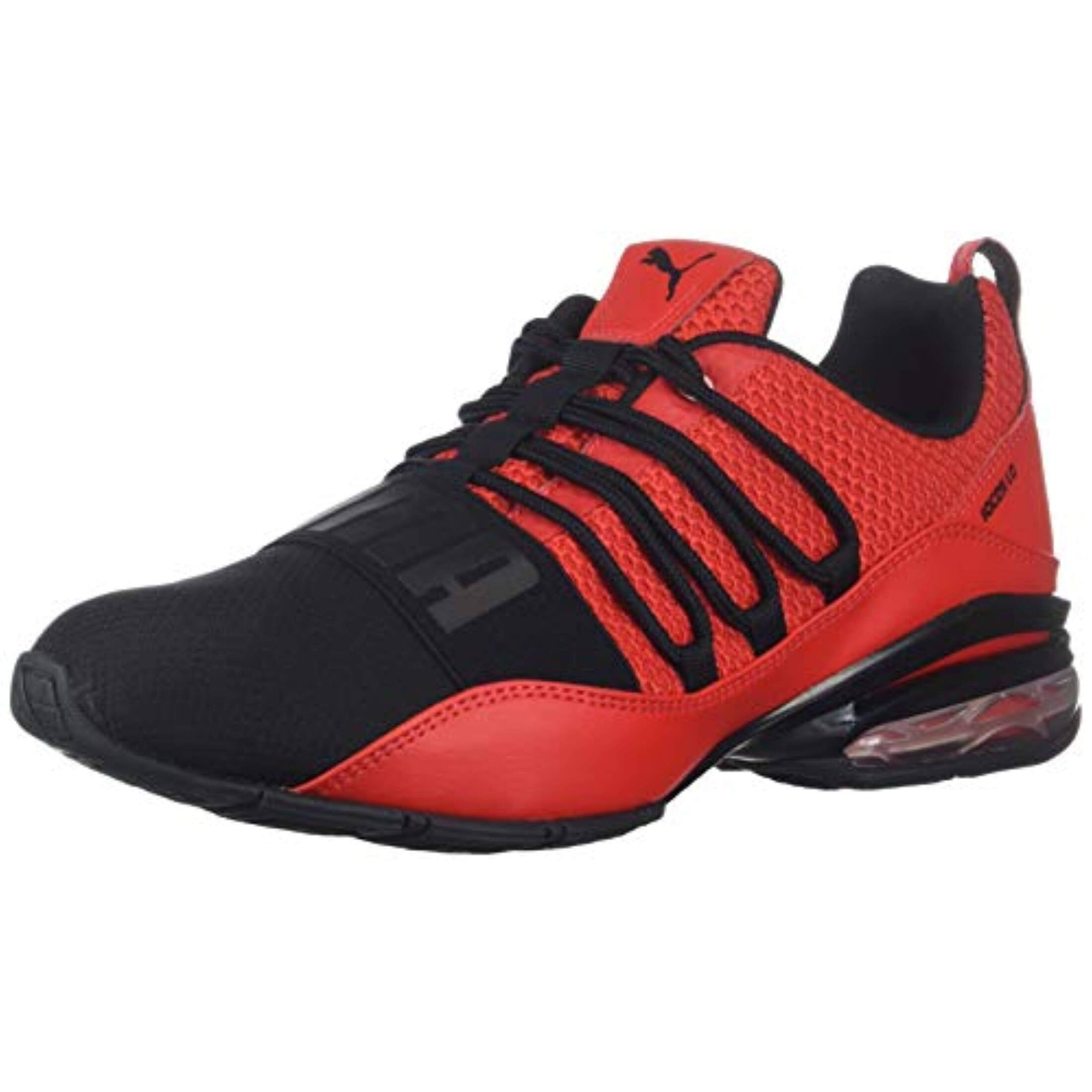 red and black puma shoes