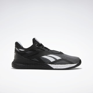 reebok black and white