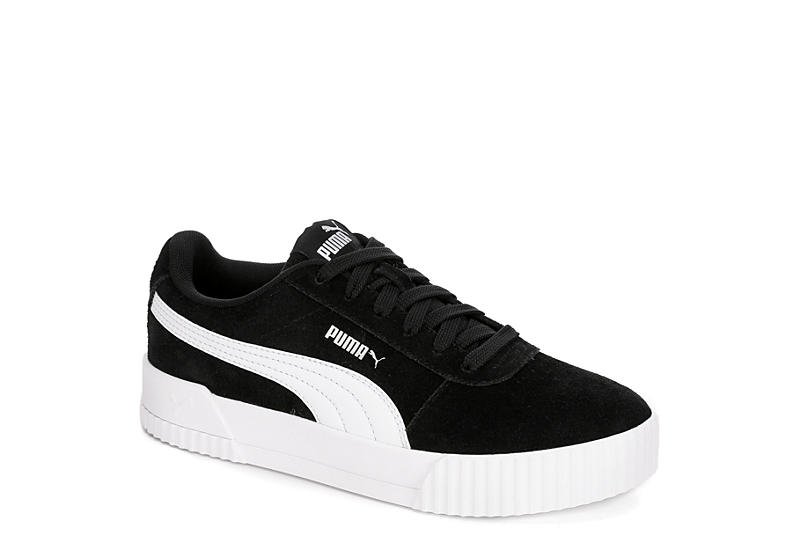 white and black puma shoes